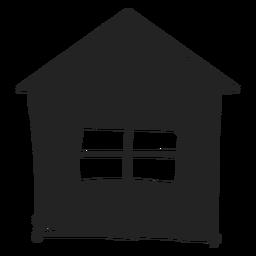 Pequeno, lar, mão, desenhado, ícone