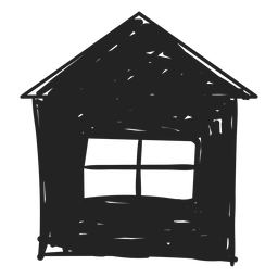Small home hand drawn icon