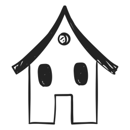 Small house hand drawn icon