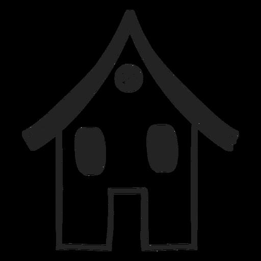 Icono dibujado mano pequeña casa Transparent PNG