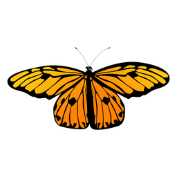 Small orange butterfly vector