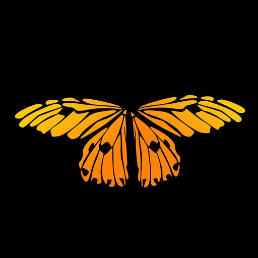 Vector mariposa pequeña naranja Transparent PNG