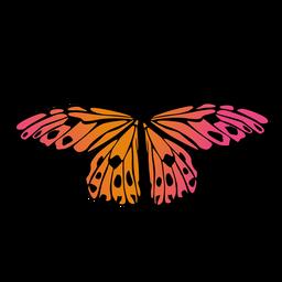 Pequeña mariposa de jardín naranja