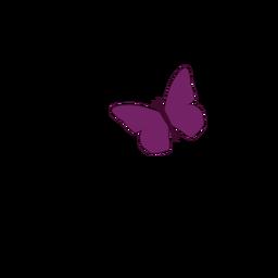 Pequeno, roxo, borboleta, ícone