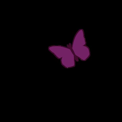 Kleine lila Schmetterlingsikone Transparent PNG