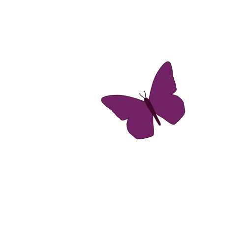 Pequeño icono de mariposa púrpura Transparent PNG