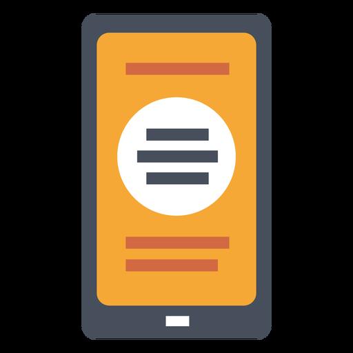 Vector de marketing smartphone Transparent PNG