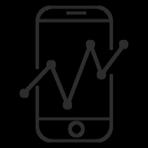 Smartphone con el icono de gráfico Transparent PNG