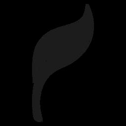 Ícone de folha preta suave