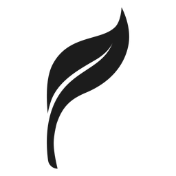 Icono de hoja suave negro