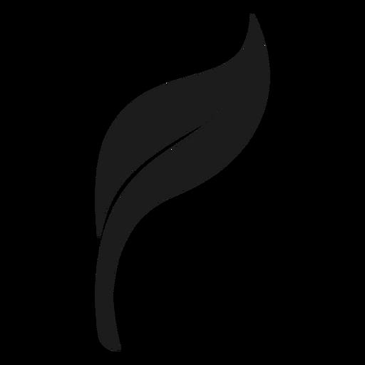 Weiches schwarzes Blatt-Symbol Transparent PNG