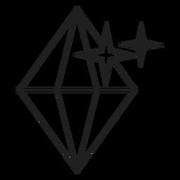 Ícone diamante espumante srtroke