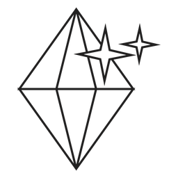 Sparkling diamond srtroke icon