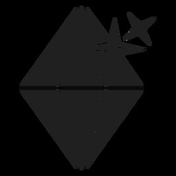 Icono de piedra de diamante espumoso