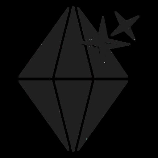 Icono de piedra de diamante espumoso Transparent PNG