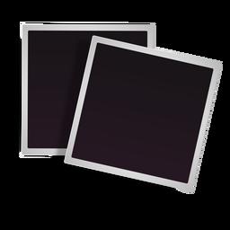 Ícone de molduras polaroid empilhadas