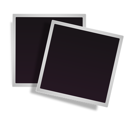 Stacked polaroid frames icon