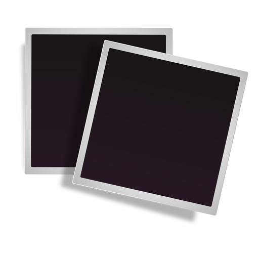 Icono de marcos polaroid apilados Transparent PNG