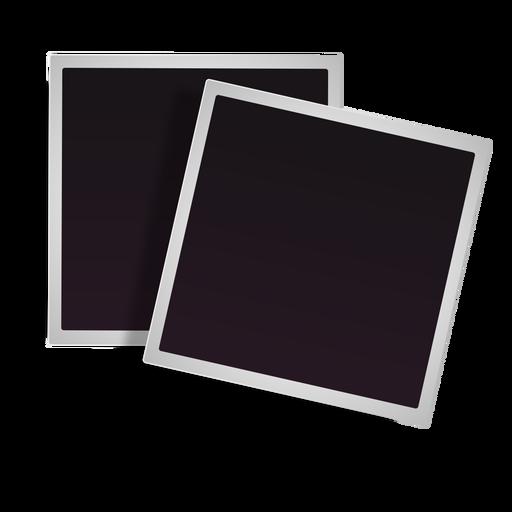 Stacked polaroid frames icon