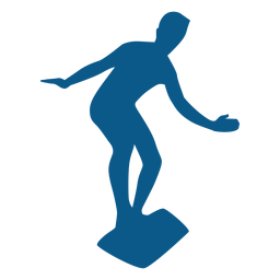 Standing on surfboard silhouette