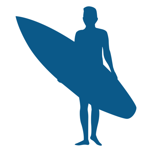 Standing up male surfer silhouette Transparent PNG