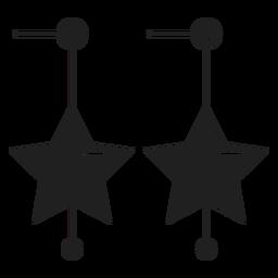 Estrella pendiente icono pendiente