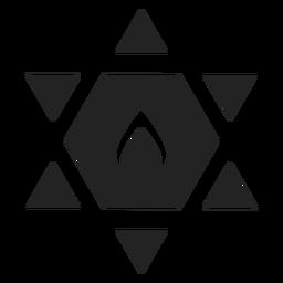 Ícone de estrela de david preto