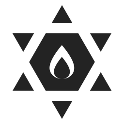 Star of david black icon