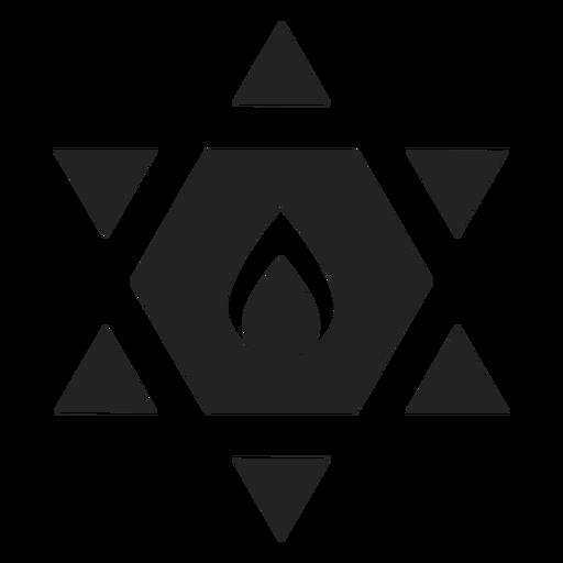 Estrella de david icono negro Transparent PNG
