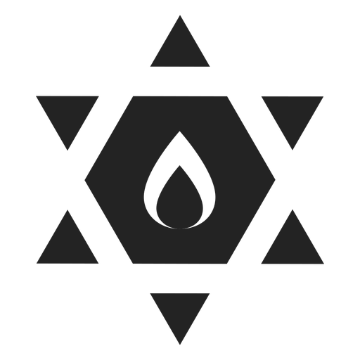 Star of david black icon Transparent PNG