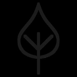 Ícone de folha em forma de coração de haste