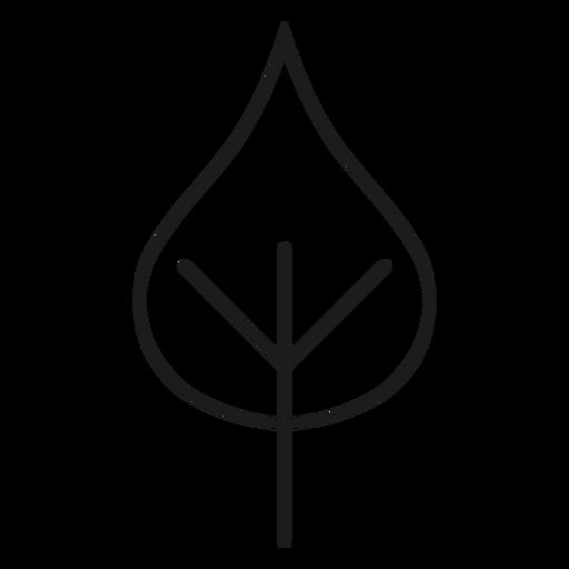 Icono de hoja en forma de corazón de tallo Transparent PNG