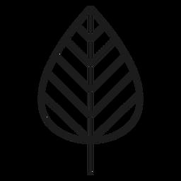 Stängel mit Linienblattsymbol