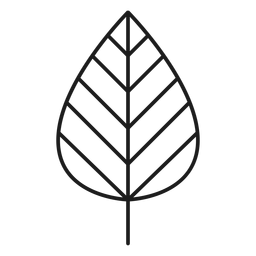 Stem with line leaf icon