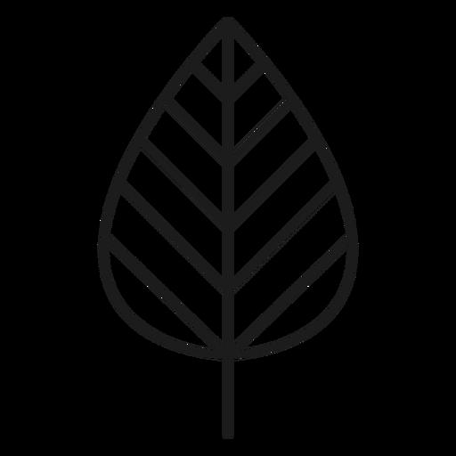 Haste com o ícone de folha de linha Transparent PNG