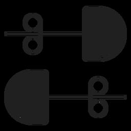 Stud pendientes icono negro