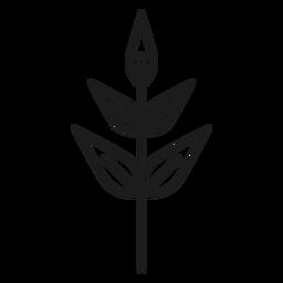 Subular icono de hojas