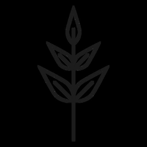 Subular icono de hojas Transparent PNG