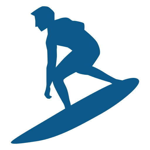 Surfer balancing on board silhouette Transparent PNG