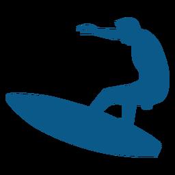 Surfista a bordo da silhueta