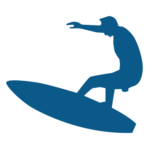 Surfer on board silhouette Transparent PNG