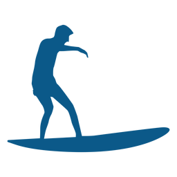 Surfer riding the wave silhouette