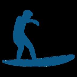Surfista montando la ola silueta