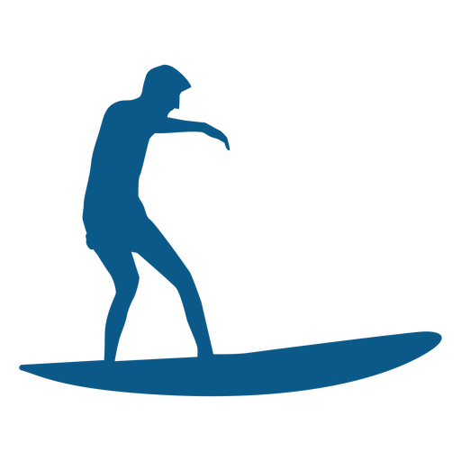 Surfer riding the wave silhouette Transparent PNG