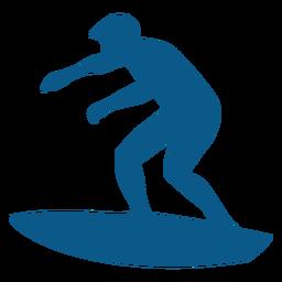 Silueta de los hombres de surf