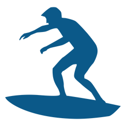 Surfing men silhouette