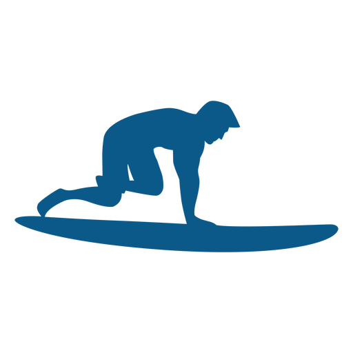 Surfing pop up position silhouette Transparent PNG
