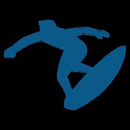 Posición de surf silueta