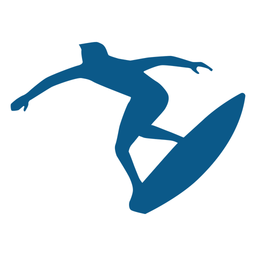 Surfing position silhouette Transparent PNG