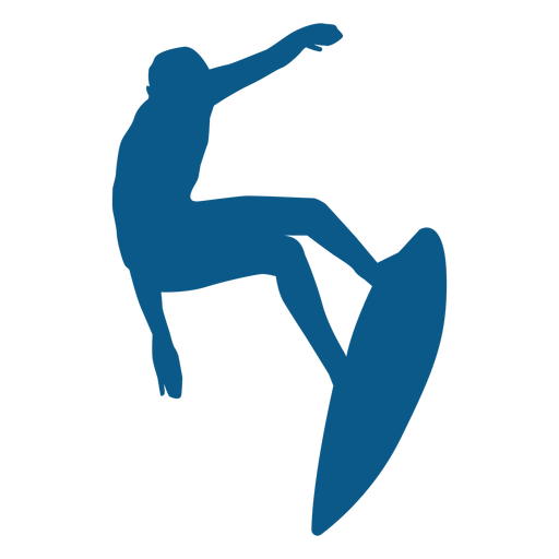 Surfing simple silhouette Transparent PNG